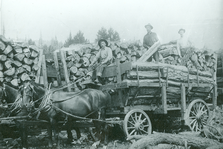 Vintage picture of logging in Truckee