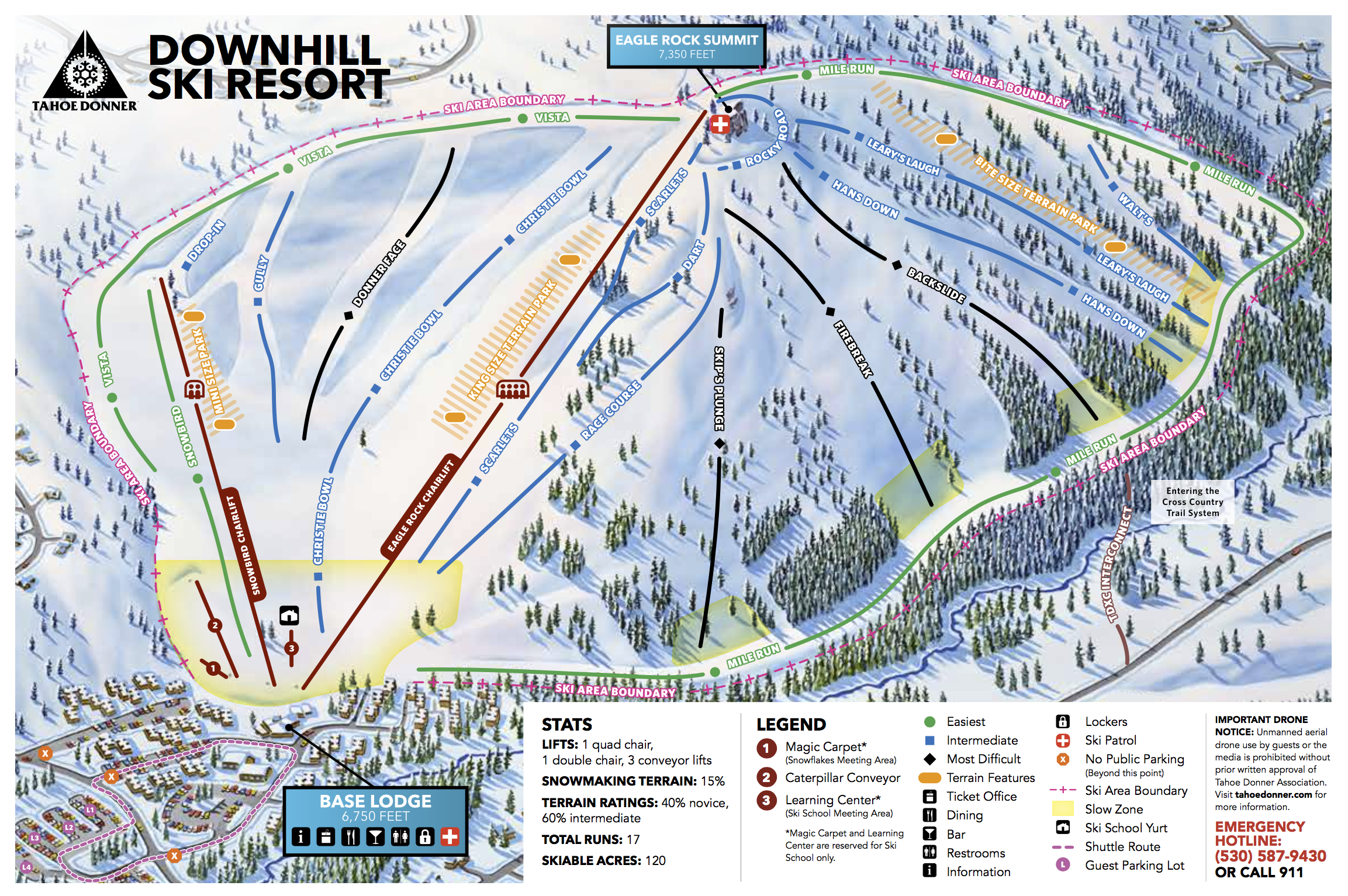 Tahoe Donner Downhill Trail Map