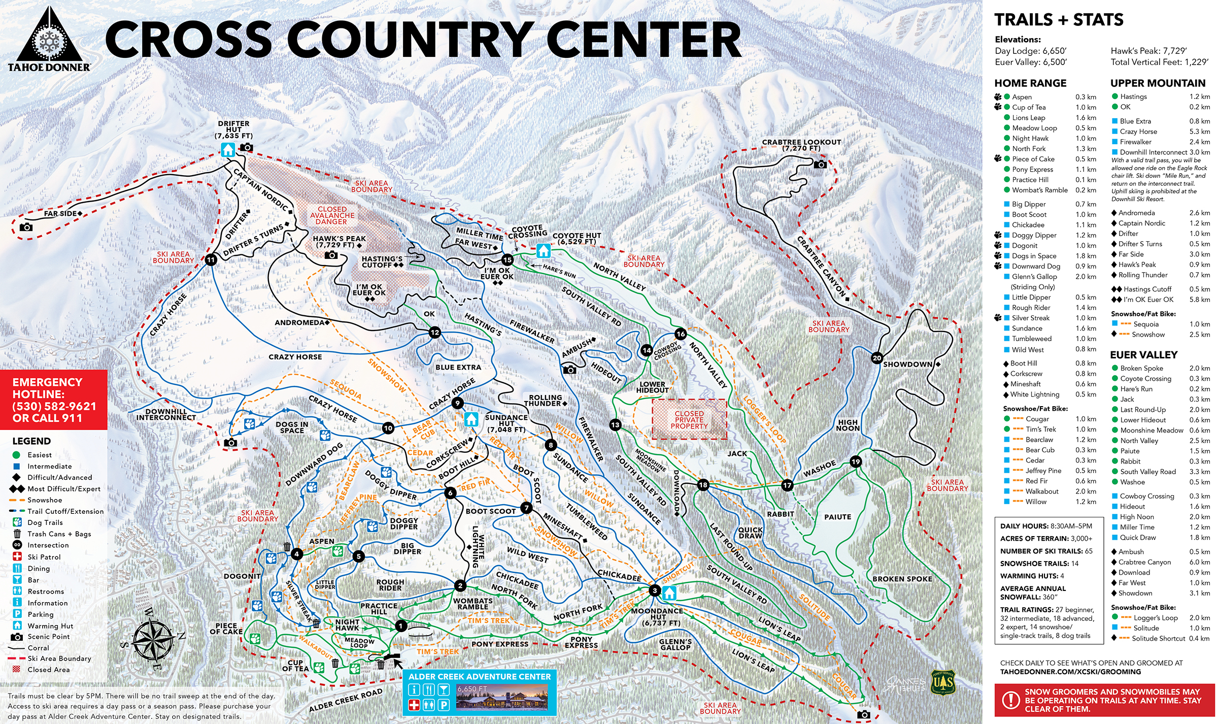 Trail Map   Tahoe Donner