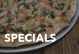 Specials at Pizza on the Hill