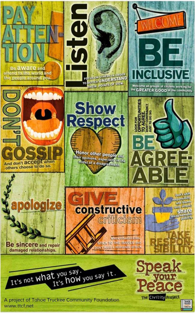 Speak Your Peace Poster: Tips for Board Governance