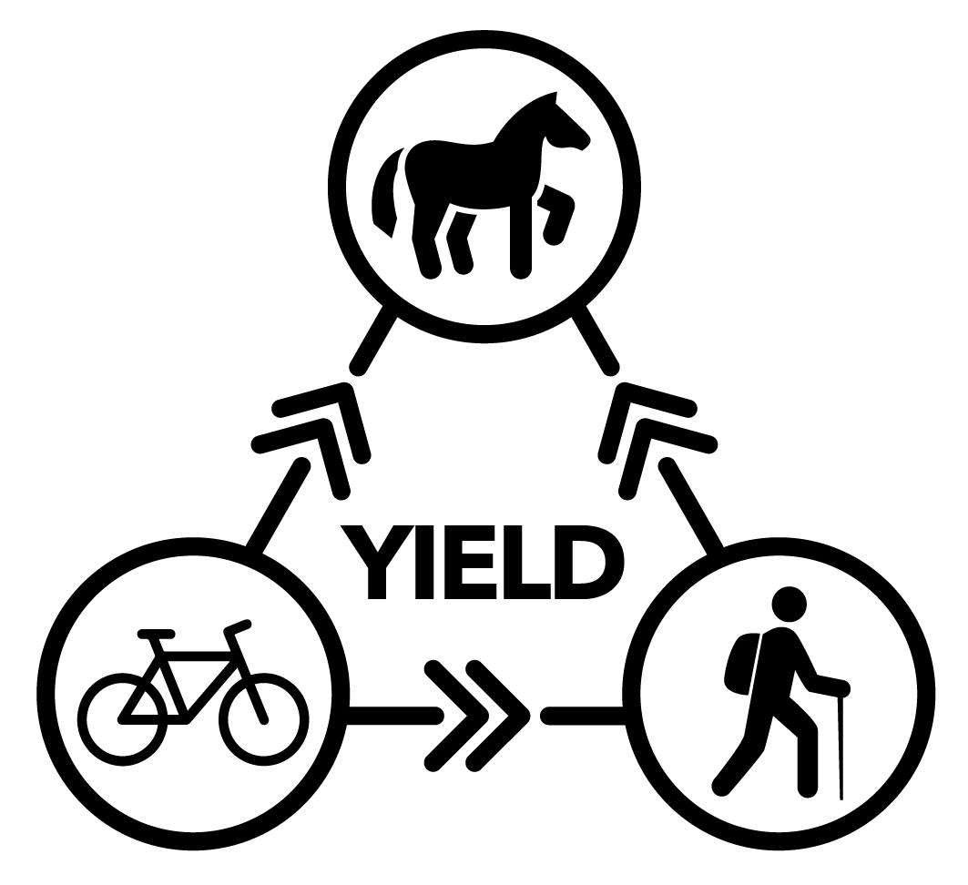 Trail Yield Symbol