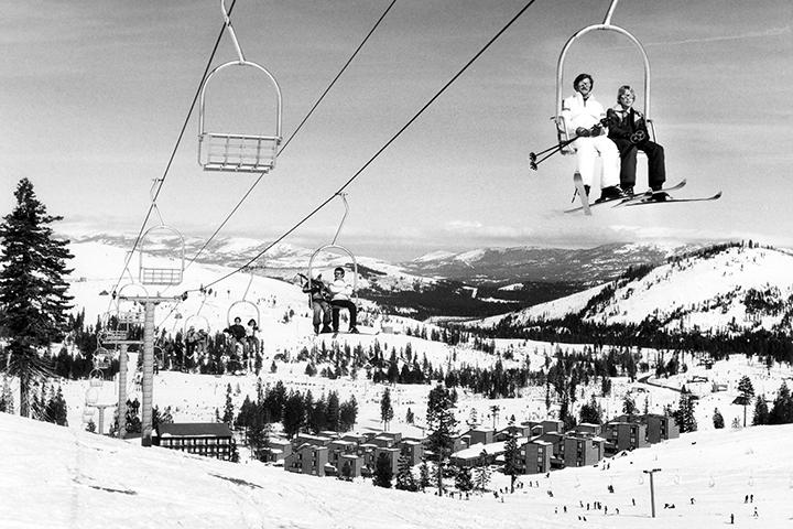 Vintage Tahoe Donner Downhill Ski Image