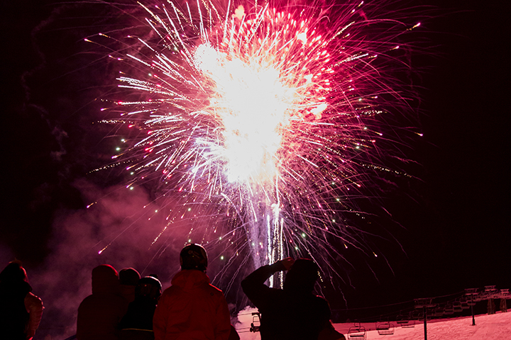 Fireworks at Tahoe Donner Downhill