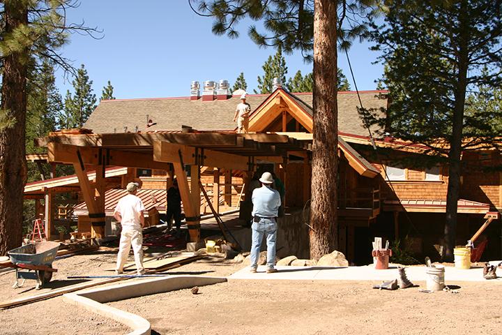 Construction of the bridge at The Lodge Restaurant & Pub