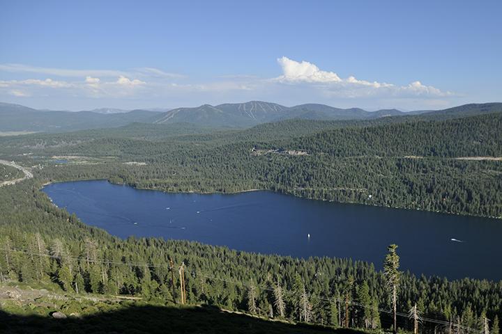 Scenic of Donner Lake from Donner Ridge