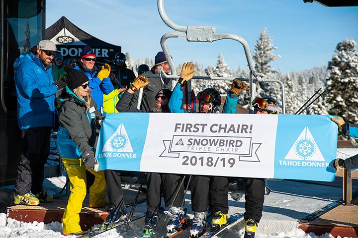 New Snowbird Chairlift at Tahoe Donner Downhill Ski Resort