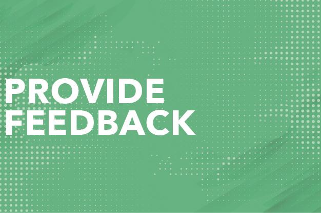 Provide Feedback Button